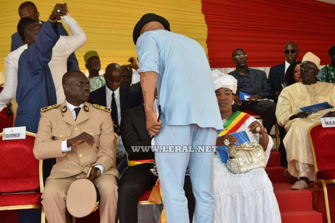 Photos: Elh Ousseynou Diouf á la cérémonie de pose de la première pierre du Port Minéralier de Sendou-Bargny