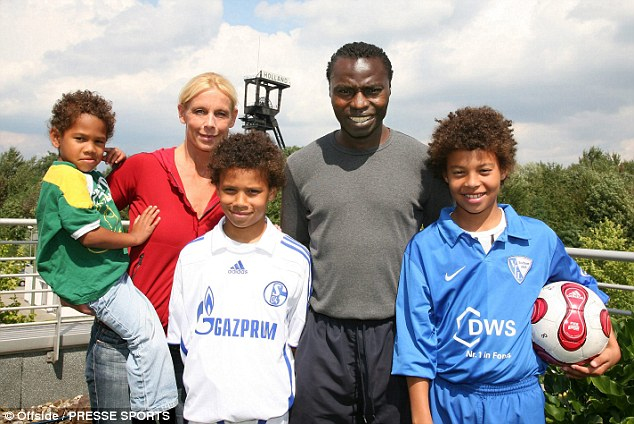 Souleymane Sané avec sa femme, et ses fils  Sidi, Regina, Leroy, Souleymane and Kim Sane -