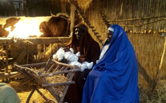 Le couple sénégalais et leur enfant