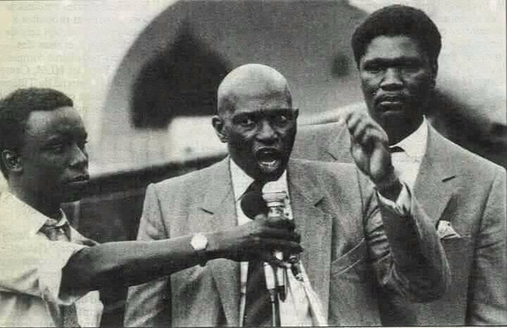 Photos : Me Abbdoulaye Wade, Idy et Ousmane Ngom version vintage