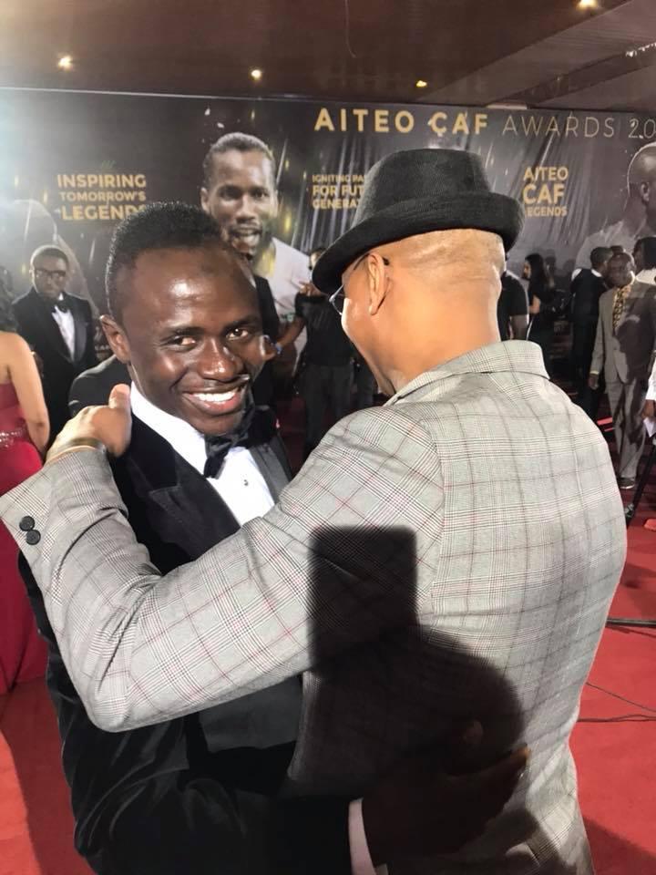 Ballon d'Or africain 2017 : Sadio Mané, El Hadji Diouf et Samuel Eto'o présents à Accra (Photos)