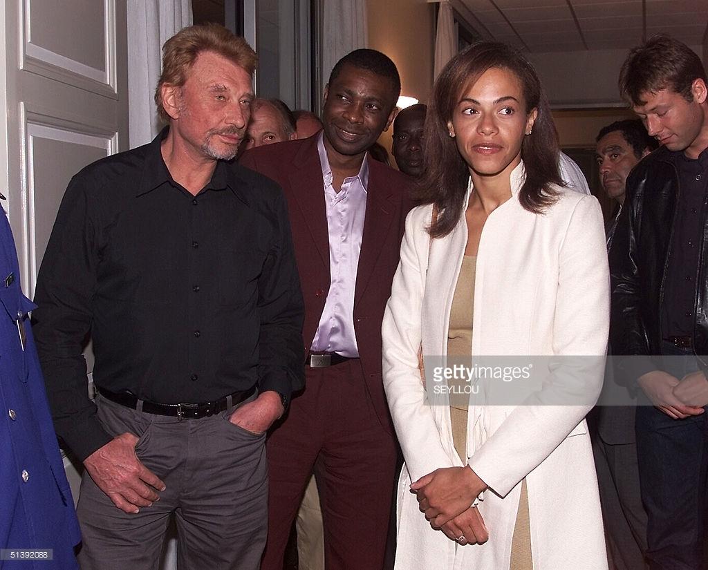 Photos : Youssou Ndour, Syndièly Wade et Johnny Halliday
