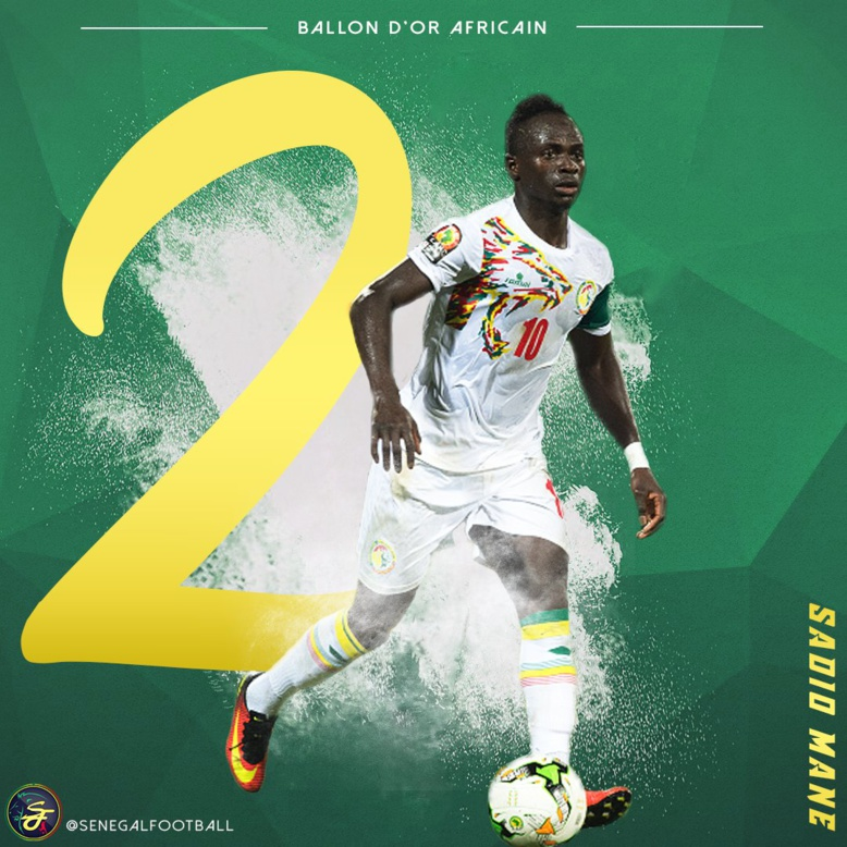 Ballon d'or Africain 2017 : Sadio Mané 2e ne figure pourtant pas dans l'équipe type de la Caf