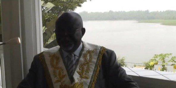 Jérémie Sollè, patron de la Grande Loge unie du Cameroun, lors des Rehfram, en février 2016