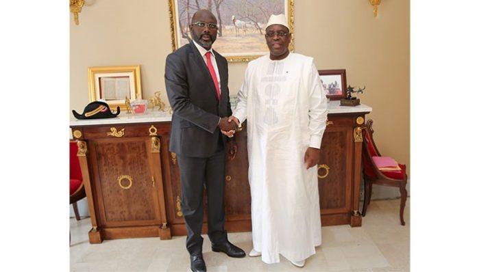 Prestation de serment du Président élu du Libéria: Macky Sall à Monrovia à côté de George Weah, ce lundi