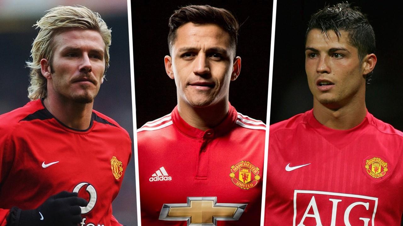 Man.U-Cristiano Ronaldo, David Beckham, Alexis Sanchez ... Ils ont porté le numéro 7 à Manchester United