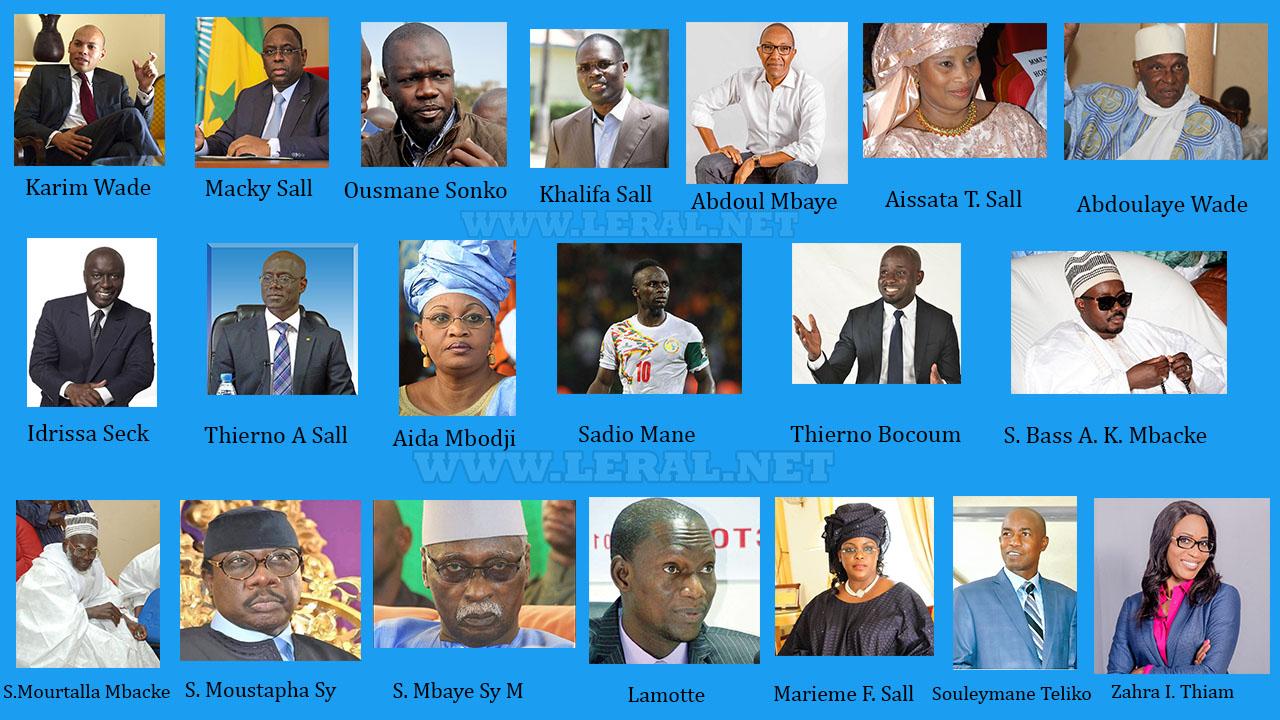 Les 20 personnalités sénégalaises qui pourraient faire 2018 (Par Leral.net)