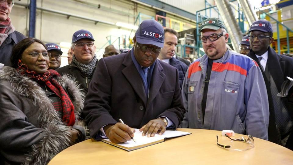Photos archives : Macky Sall à Alstom