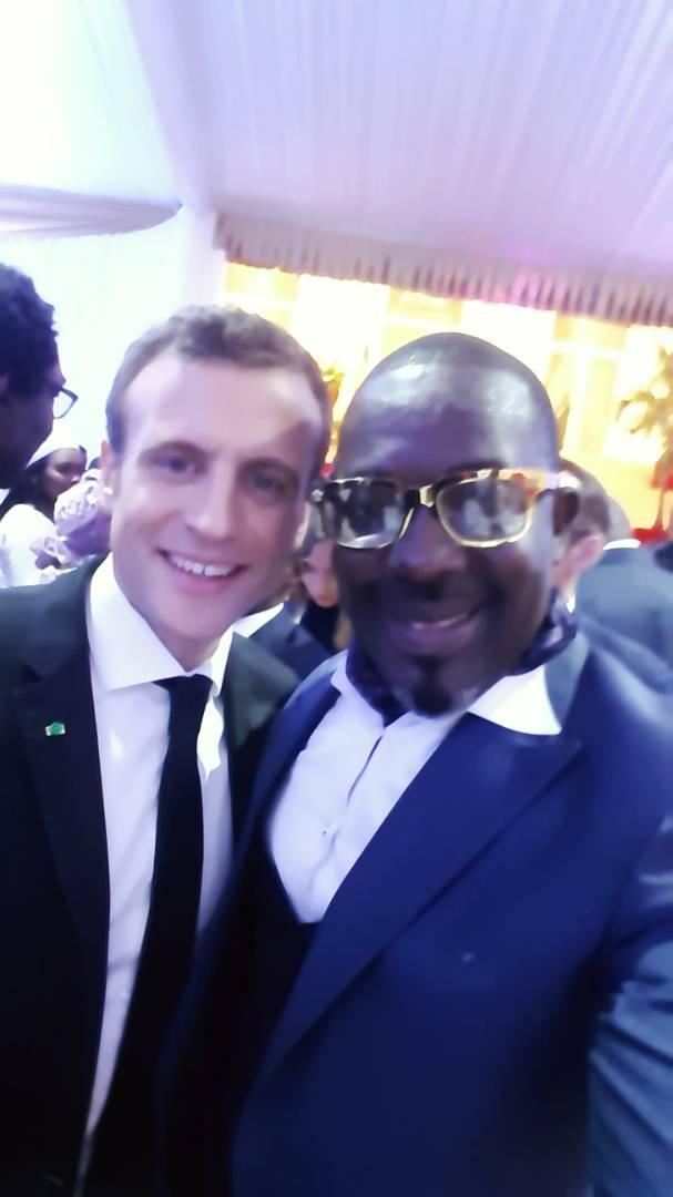 Photo : Emmanuel Macron avec Mbaye Dièye Faye