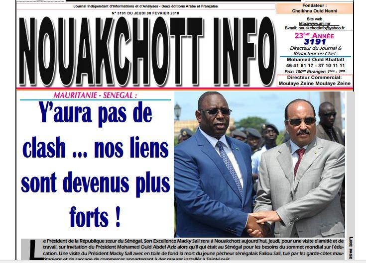 Il n'y aura pas de clash entre le Sénégal et la Mauritanie… nos liens sont devenus plus forts !