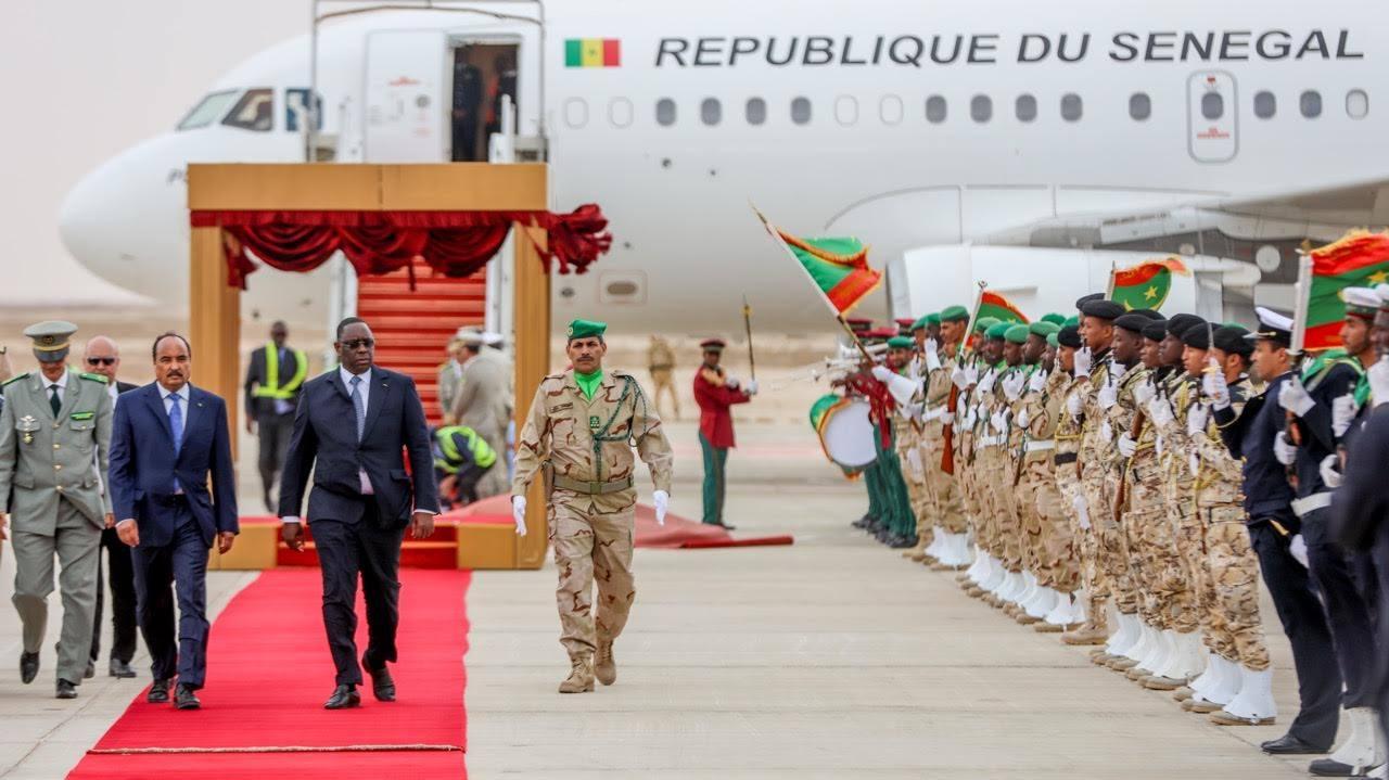 Les images de l'arrivée de Macky Sall à Nouakchott