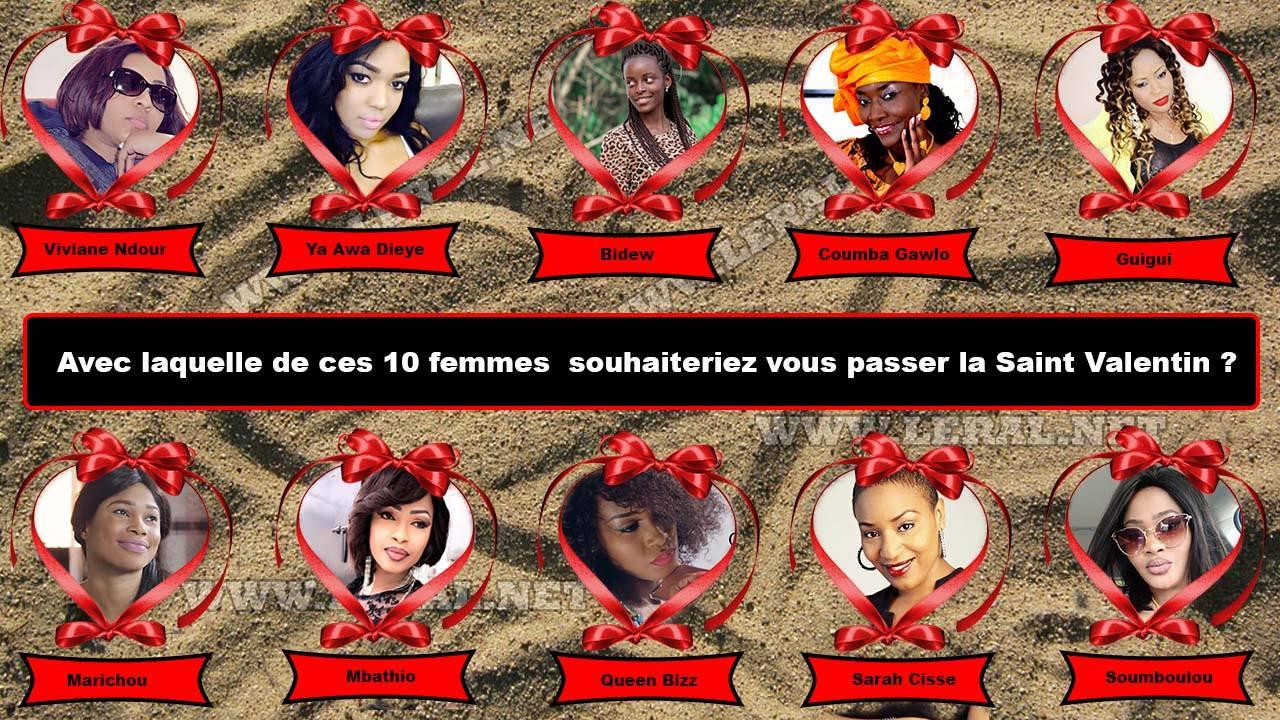 Ya Awa Dièye, Viviane, Bideew, avec laquelle de ces 10 femmes souhaiteriez-vous passer la Saint Valentin 2018?