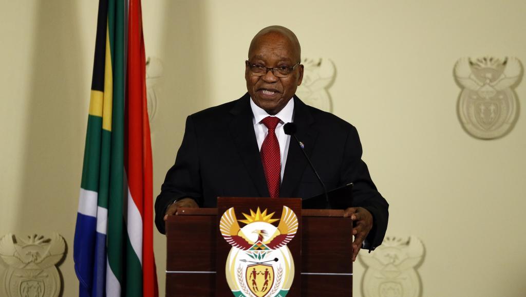 Afrique du Sud: le président Jacob Zuma démissionne