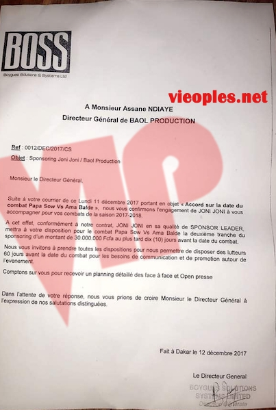 Exclusif - Bougane Guèye Dany vs Assane Ndiaye : Le document à l'origine de la brouille contractuelle
