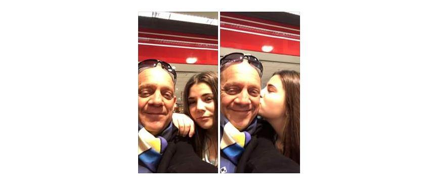 Raphael Blasi avec sa fille Alexia à Montpellier Languedoc-Roussillon, l