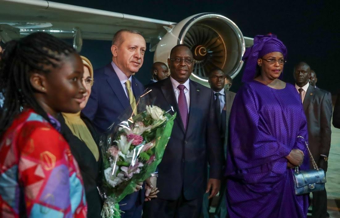 Macky Sall a accueilli mercredi soir son homologue turc Recep Tayyip Erdoğan (images)