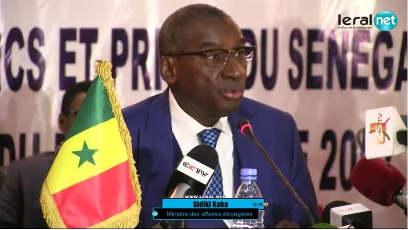 Sidiki Kaba considère la sortie du ministre gambien Hamath Bâ, d'«épiphénomène » et de « détail »