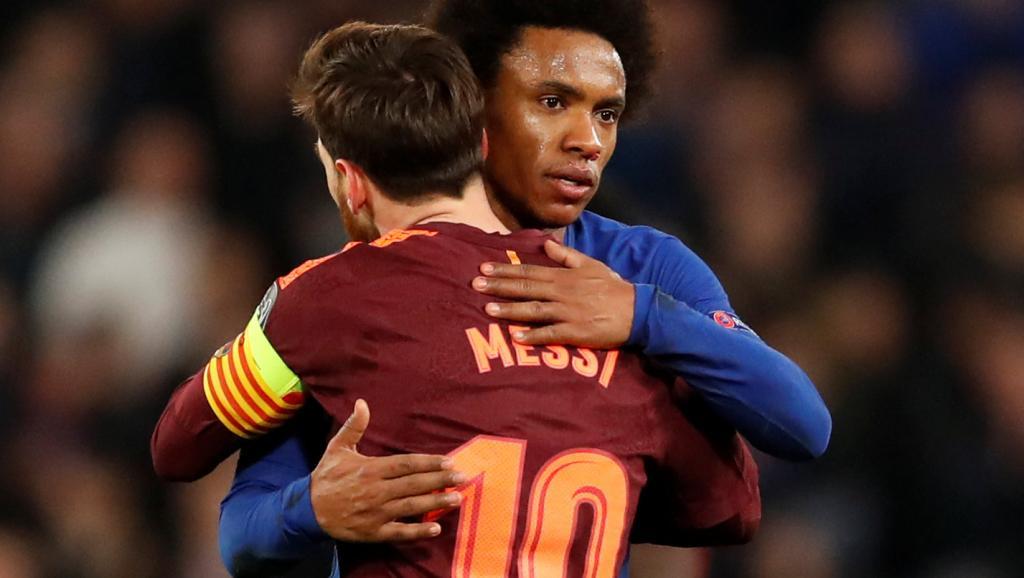 Chelsea-Barça : Willian veut bloquer Messi et miser sur les contres.