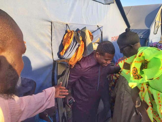 Le Président BOUGANE GUEYE en bon saint-louisien est allé rendre visite aux 200 familles sinistrés