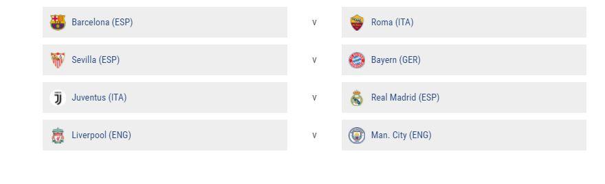 Tirage quart de finale Ligue des champions 2018 : Chocs Juve - Real Madrid et Liverpool - Man City