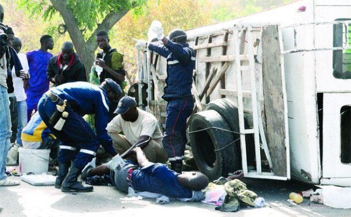 Fatick : un accident de la route fait un mort et 18 blessés