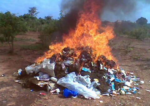 Ziguinchor : 1 tonne de chanvre indien et 700 grammes de cocaïne incinérés