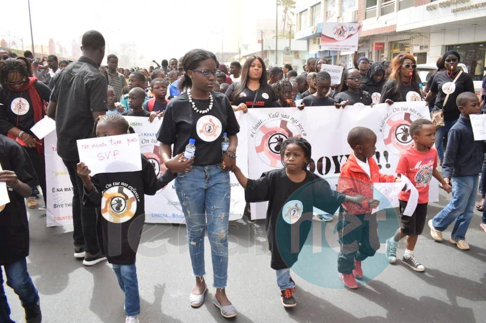 Les mômes investissent la rue pour dire non aux rapts d'enfants