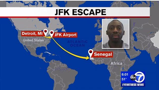 """Vidéo-Evasion spectaculaire d'un """"Mbacké Mbacké"""" sur le point d'être expulsé des Etats Unis"""