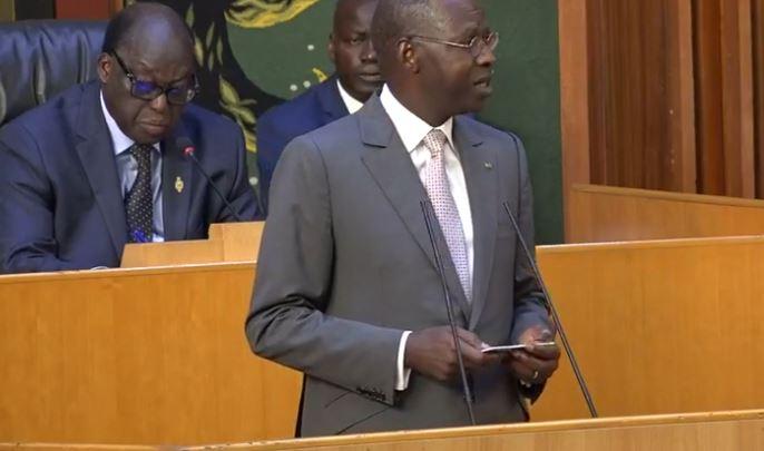 Mahammed Boun Abdallah Dionne: « Le Gouvernement confirme sa volonté de venir à l'Assemblée nationale, selon une périodicité à fixer d'accord parties, comme le prévoit l'article 85 de la Constitution»