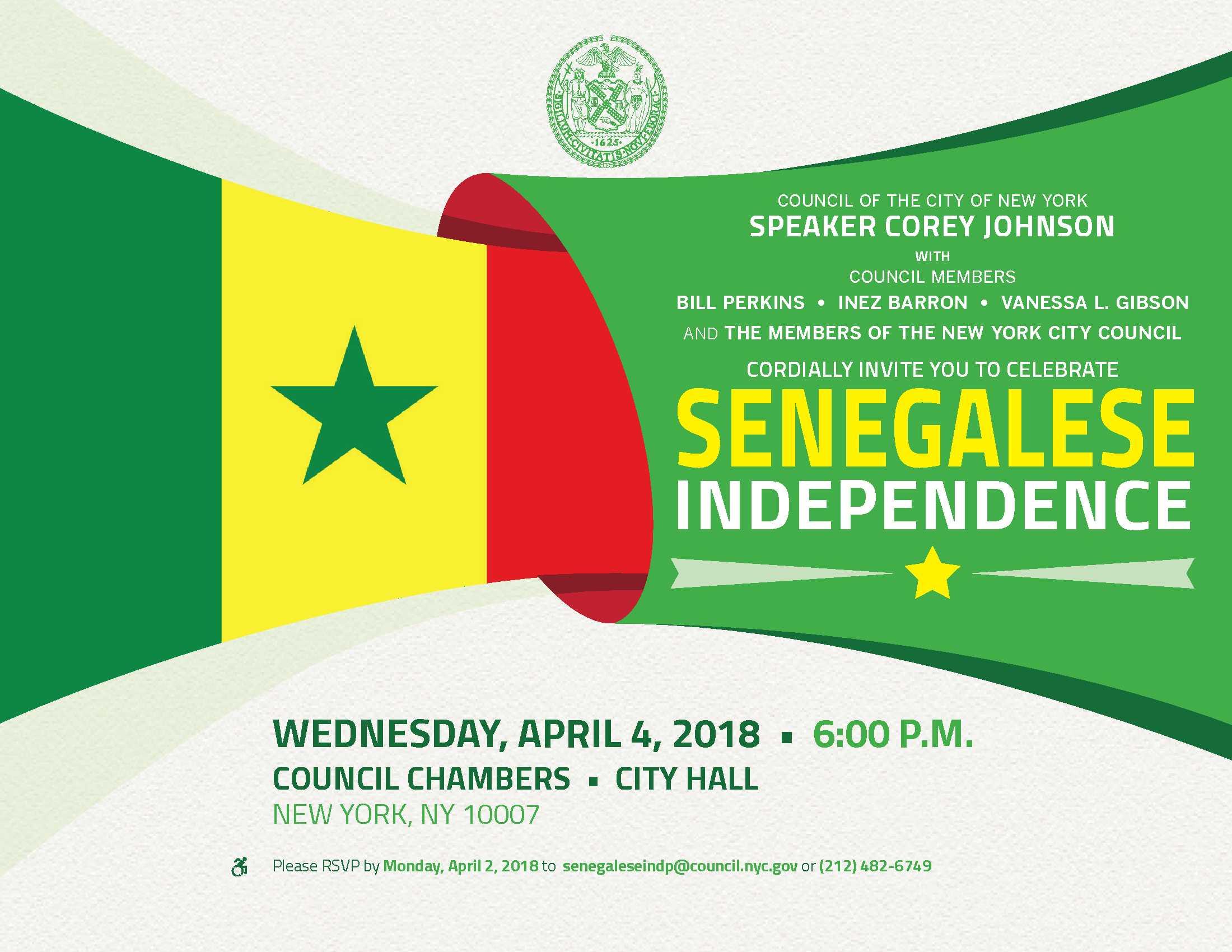 Etats-Unis : En collaboration avec le Conseil municipal de la ville de New York, l'A.S.A célèbre le 58e anniversaire de l'indépendance du Sénégal