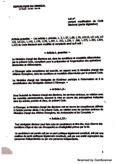 """Projet de loi portant modification du Code électoral : les subtilités d'un lifting de l'article 57 pour """"éliminer"""" Karim Wade et Khalifa Sall?"""