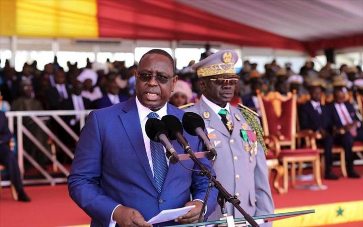 Défilé du 4 avril 2018: le Président Macky Sall rappelle la nécessité de doter l'armée de moyens pour ses missions