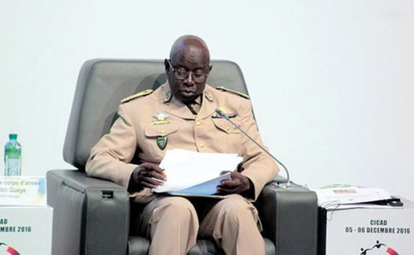 Le Général Cheikh Gueye, lors du Forum Paix et sécurité au Cicad