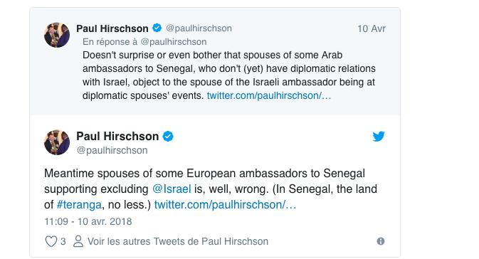 Exclusivité leral : L'épouse de l'ambassadeur d'Israël au Sénégal subit des pressions arabes venant de l'ambassade de France à Dakar