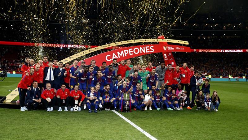 Une semaine après avoir remporté la Coupe du Roi, le Barça a remis le couvert en Liga.