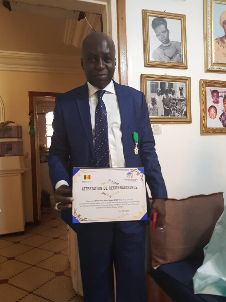 Pape Maël Diop, Directeur des aéroports du Sénégal décoré à l'occasion du 1er mai