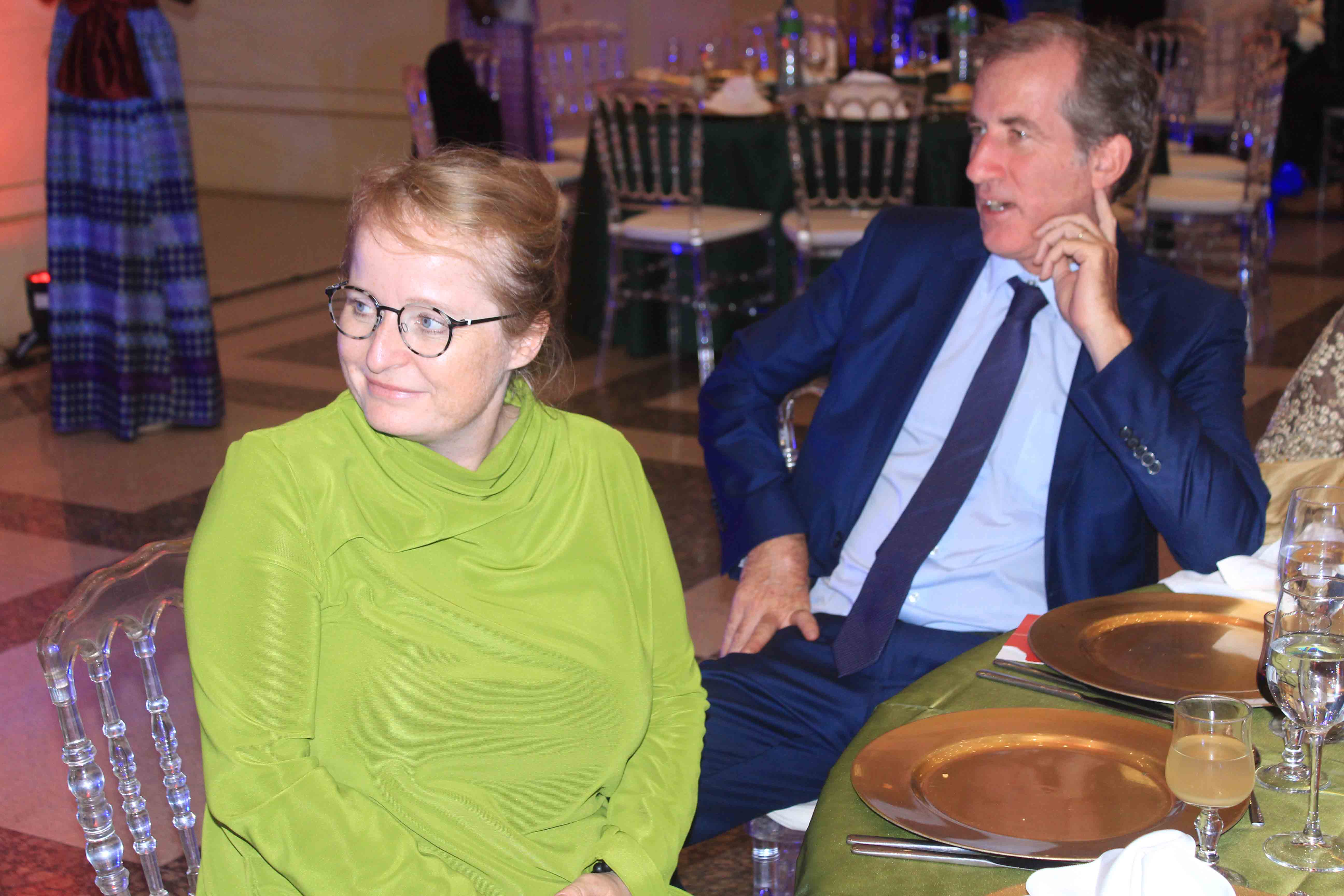 Photos: Christophe Bigot bien accompagné à la soirée de Viviane Chidid