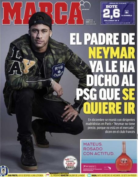 """Mercato: selon Marca, Neymar """"veut quitter le PSG"""" (et l'aurait fait savoir)"""