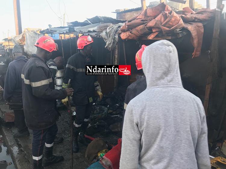 Saint-Louis: trois cantines consumées par les flammes au marché « Pikine »