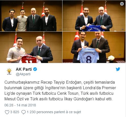 Özil et Gündogan, les photos polémiques avec le président Erdogan