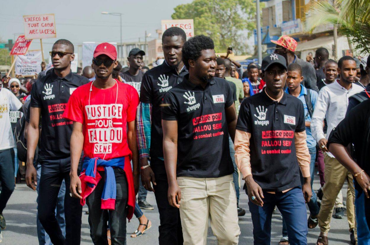 """Saint-Louis : Temps forts de la marche des étudiants de l'UGB aux cris de """"Amadou Ba Voleur , Mary Teuw Dégage"""""""