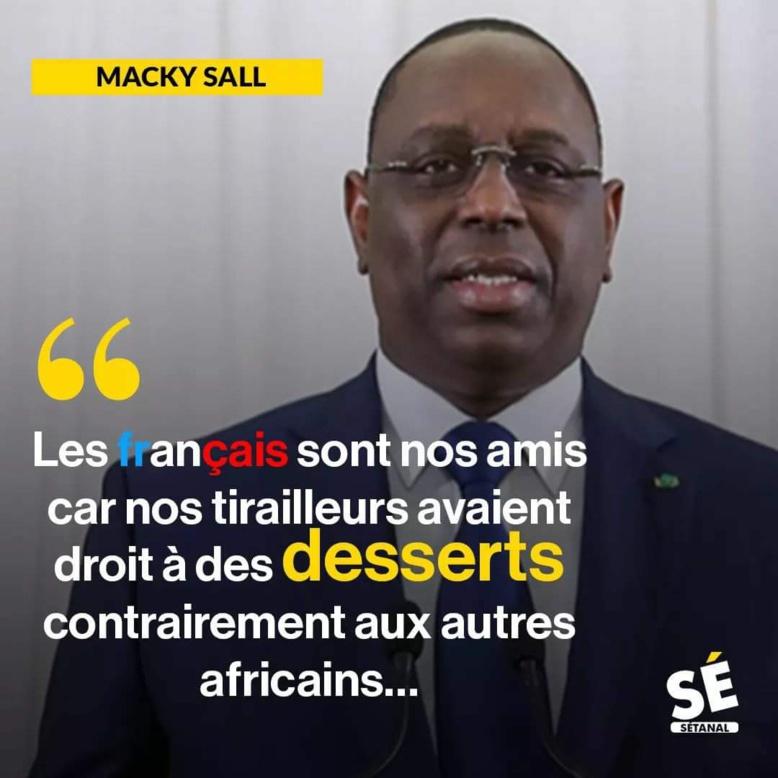 """Macky défend la colonisation et indigne les internautes sénégalais : """"nos tirailleurs avaient droit à des..."""""""