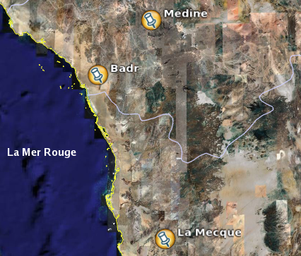 Situation géographique de Badr.