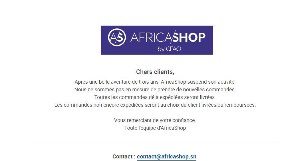 E-Commerce : Africashop ferme boutique