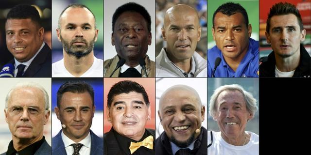 Mondial-2018: de Pelé à Zidane, le onze de légende