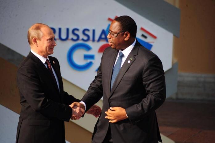 """En Russie pour soutenir les """"Lions"""": Macky Sall va rencontrer  Vladimir Poutine"""