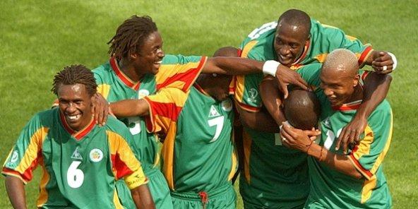 """L""""équipe des Lions de 2002 quart finaliste à la Coupe du Monde au japon"""