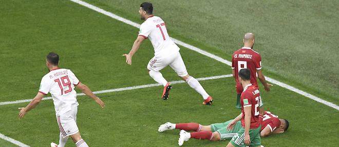 Le Maroc perd devant l'Iran, match nul entre l'Espagne et le Portugal