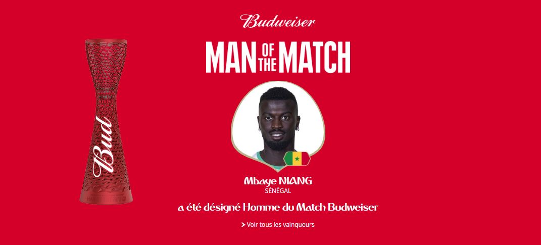Mame Mbaye Niang, élu homme du match Pologne-Sénégal