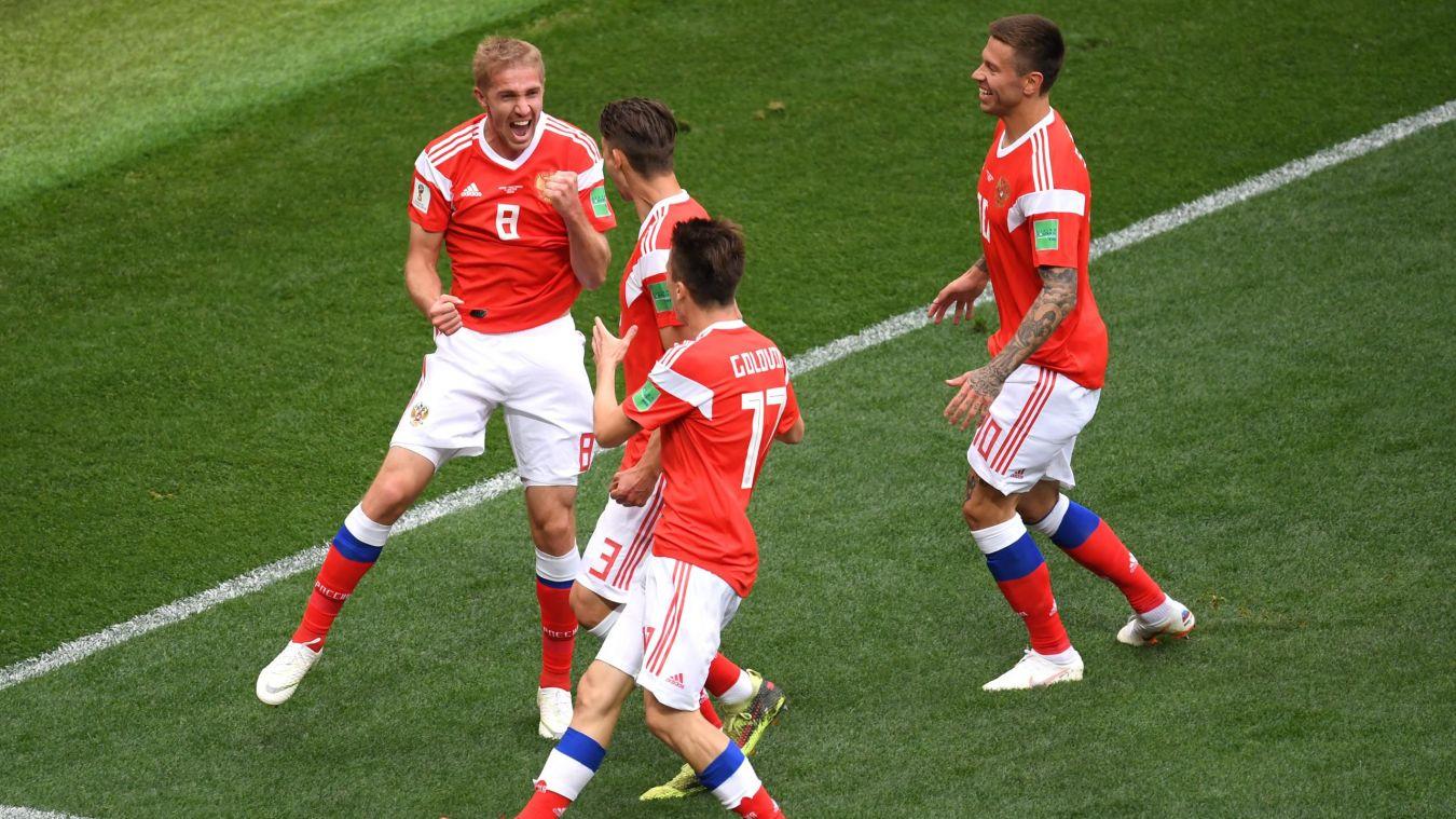 La Russie bat l'Egypte (3-1) et fait un grand pas vers les huitièmes